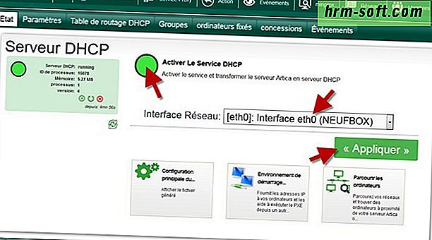 Comment activer DHCP